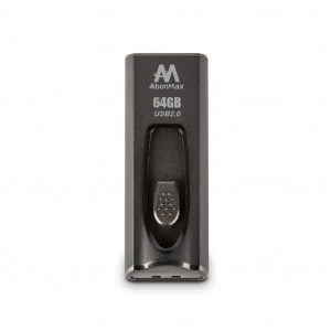 Flash Drive AbonMax AU202 64GB USB 2.0 Μαύρο 4713375783084