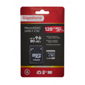 Flash Memory Card Gigastone MicroSDXC UHS-1 128GB C10 Professional Series with Adapter up to 80 MB/s* 4716814072084