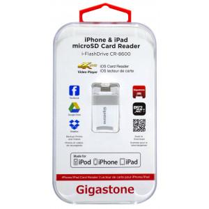 Gigastone i-FlashDrive CR-8600 iOS Card Reader MFI Λευκό για iPhone & iPad & iPod 4716814072114