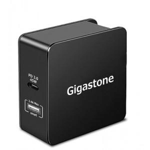 Φορτιστής Ταξιδίου Gigastone PD-6570B USB και Type-C PD 3.0 57W για MacBook, PC Notebook, iOS & Android. Μαύρο 4716814075979