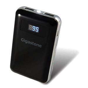 Power Bank Gigastone PB-7009B 9000mAh με Διπλή USB Έξοδο, με LCD Ενδείξεις και Φακό. Μαύρο 4716814077812