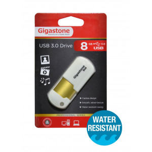 USB 3.0 Gigastone Flash Drive U307 8GB White Professinal Series Velvet Frame 4716814078604