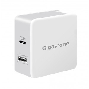 Φορτιστής Ταξιδίου Gigastone PD-6570W USB και Type-C PD 3.0 57Watt για MacBook, PC Notebook, iOS & Android. Άσπρο 4716814079427