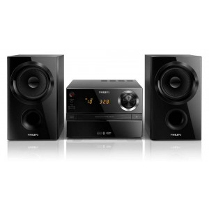 HiFi Micro System Philips  30W BTM1360 Black with MP3 Link,USB Port and Bluetooth 4895185605753