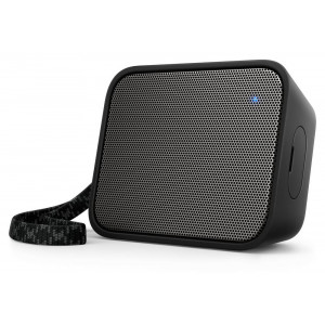 Wireless Portable Speaker Philips Pixel Pop BT110B/00 4W Sweat-Proof IPX4 Black with Speakerphone and 3.5mm Audio-in Connector 4895185620053