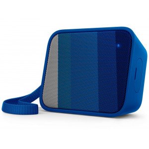 Wireless Portable Speaker Philips Pixel Pop BT110A/00 4W Sweat-Proof IPX4 Blue with Speakerphone and 3.5mm Audio-in Connector 4895185620060