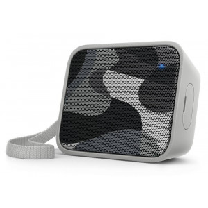 Wireless Portable Speaker Philips Pixel Pop BT110C/00 4W Sweat-Proof IPX4 Grey with Speakerphone and 3.5mm Audio-in Connector 4895185620084