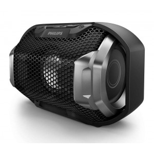 Wireless Portable Speaker Philips ShoqBox SB300B/00 4W Waterproof Black with Speakerphone and 3.5mm Audio-in Connector 4895185623429