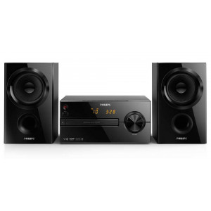 Ηχοσύστημα Micro Philips 30W BTM1560/12 Μαύρο με MP3 Link,USB Θύρα και Bluetooth 4895185630229