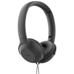 Ακουστικά Stereo Philips On-Ear HS TAUH201BK/00 3.5 mm Μαύρο με Μικρόφωνο για Κινητά Τηλέφωνακαι Συσκευές Ήχου 4895229100527