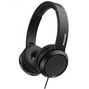 Ακουστικά Stereo Philips On-Ear Stereo 3.5mm TAE4105BK/00 Μαύρο με Μικρόφωνο, Πλήκτρο Απάντησης 4895229109681