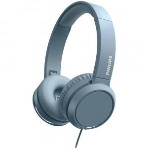 Ακουστικά Stereo Philips On-Ear Stereo 3.5mm TAH4105BL/00 Μπλε με Μικρόφωνο, Πλήκτρο Απάντησης 4895229110274