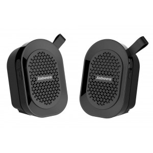 Outdoor Proof Wireless Speaker Bluetooth Jabees beatBOX Mini TWS 2 x 3W IPX4 Black with Speakerphone and Audio-in 4897042101699