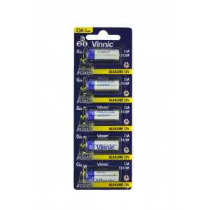 Μπαταρία Αλκαλική Vinnic L1028F size A23/23A/23GA/A23/E23A/GP23A/K23A/L1028/LR23A/LRV08/LRVO8/MN21/MS21/V23/V23GA/VR22 12V Τεμ. 5 4898338006438