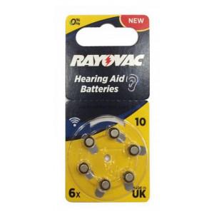 Hearing Aid Batteries Rayovac 10 Special PR70 1.45V Pcs. 6 5000252003212