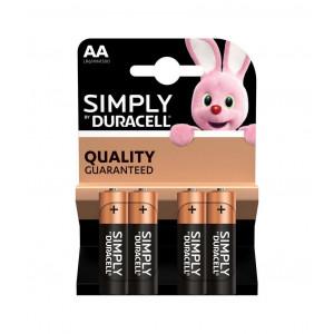 Μπαταρία Αλκαλική Simply Duracell LR6 size AA 1.5 V Τεμ. 4 5000394002241