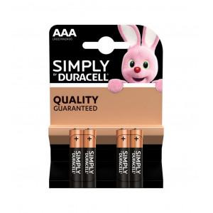 Μπαταρία Αλκαλική Simply Duracell LR03 size AAA 1.5 V Τεμ. 4 5000394002432