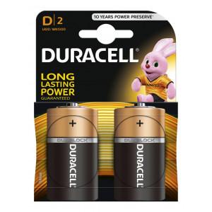 Μπαταρία Αλκαλική Duracell Long Lasting LR20 / MN1300 size D Τεμ. 2 5000394076730