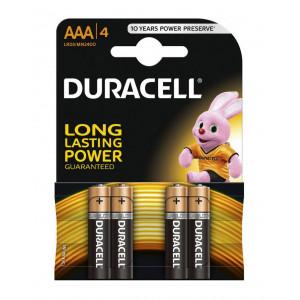 Μπαταρία Αλκαλική Duracell Long Lasting LR03 / MN2400 size AAA Τεμ. 4 5000394077164