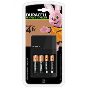 Φορτιστής Μπαταριών Duracell Hi-Speed για AA/AAA Περιλαμβάνονται 2 ΑΑ 1300mAh και 2 ΑΑΑ 750mAh Μπαταρίες 5000394114500