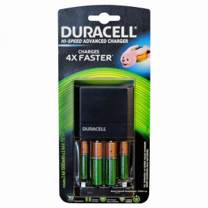 Φορτιστής Μπαταριών Duracell Hi-Speed Advanced για AA/AAA Περιλαμβάνονται 2 ΑΑ 1300mAh και 2 ΑΑΑ 750mAh Μπαταρίες 5000394114524