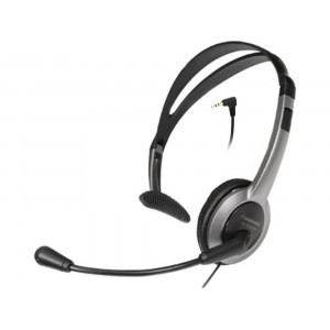 Wired Headset Panasonic KX-TCA430 Black 2.5mm compatible with Panasonic, Philips, Gigaset Dect 5025232545063