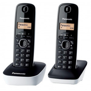 Ασύρματο Ψηφιακό Τηλέφωνο Panasonic KX-TG1612JTW Μαύρο - Λευκό 5025232621842