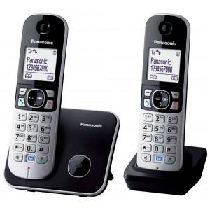 Dect/Gap Panasonic KX-TG6812 (EU) Duo Silver - Black with Eco Mode 5025232675487