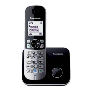 Dect/Gap Panasonic KX-TG6811GRB Black with Power Back-Up Operation and ECO mode 5025232699148