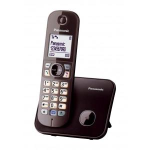 Ασύρματο Ψηφιακό Τηλέφωνο Panasonic KX-TG6811GRA Καφέ με Λειτουργία Διακοπής Ρεύματος και Λειτουργία ECO 5025232730575