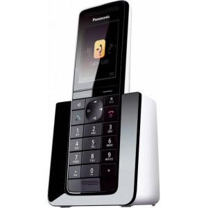 Ασύρματο Ψηφιακό Τηλέφωνο Panasonic KX-PRS110JTW Diamond Μαύρο-Λευκό με Έγχρωμη Οθόνη TFT 2.2 5025232747764