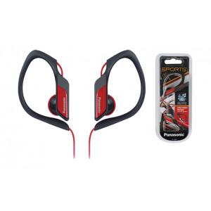 Ακουστικά Panasonic RP-HS34E-R 3.5mm IPX2 Κόκκινα με Ρυθμιζόμενο Κλιπ για mp3, iPod και Συσκευές Ήχου χωρίς Μικρόφωνο 5025232768073
