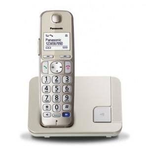 Ασύρματο Ψηφιακό Τηλέφωνο Panasonic KX-TGE210JTN Χρυσαφί 5025232779994