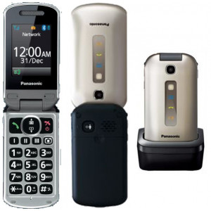Panasonic KX-TU349EXNE Χρυσαφί 2.4 MicroSD, Bluetooth, FM Radio, 2Mpx Κάμερα με Μεγάλα Γράμματα και Πλήκτρο SOS 5025232829170