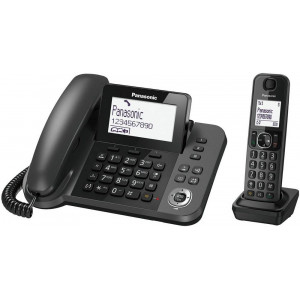 Corded Handset Panasonic KX-TGF310EXM Black + Dect/Gap with Hands-Free Input 5025232830091