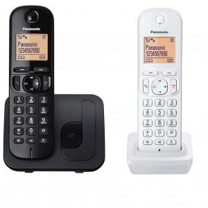 Ασύρματο Ψηφιακό Τηλέφωνο Panasonic KX-TGC212JT1 Μαύρο - Λευκό με Ανοιχτή Ακρόαση, Φραγή ενοχλητικών Κλήσεων και Λειτουργία Eco 5025232854288