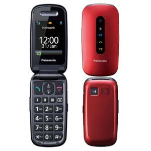 Panasonic KX-TU456 EXRE Κόκκινο 2.4 με MicroSD, Bluetooth, Κάμερα, Μεγάλα Γράμματα και Πλήκτρο SOS 5025232889617