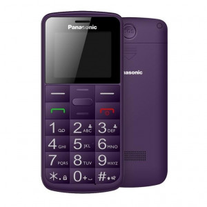 Panasonic KX-TU110EXV (Dual SIM) Μωβ1.77 Easy Phone με πλήκτρο SOS, Bluetooth και Μεγάλα Γράμματα 5025232891870