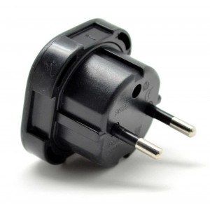 Uk to European Adaptor Black 5210029006968