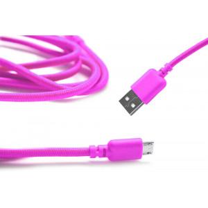 Καλώδιο σύνδεσης Κορδόνι Ancus USB σε Micro USB με Ενισχυμένες Επαφές Ρόζ 5210029008696