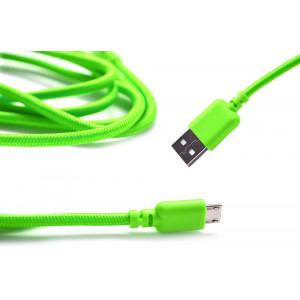 Καλώδιο σύνδεσης Κορδόνι Ancus USB σε Micro USB με Ενισχυμένες Επαφές Πράσινο 5210029008702
