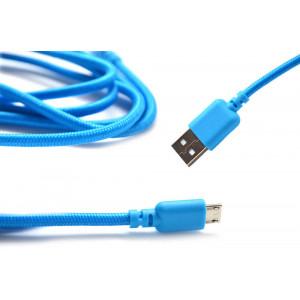 Καλώδιο σύνδεσης Κορδόνι Ancus USB σε Micro USB με Ενισχυμένες Επαφές Μπλέ 5210029008726