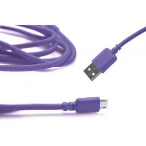 Καλώδιο σύνδεσης Κορδόνι Ancus USB σε Micro USB με Ενισχυμένες Επαφές Μώβ 5210029008733