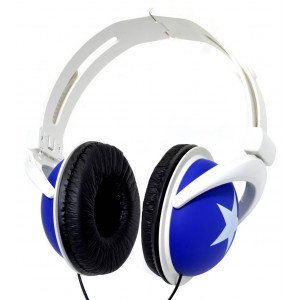 Ακουστικά Stereo Star Foldable 3.5 mm Μπλέ για mp3, mp4 και Συσκευές Ήχου 5210029010187