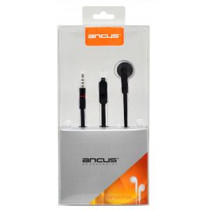 Hands Free Ancus Zeno Mono 3.5 mm for Apple-Samsung-HTC-Sony Black with Answer Button 5210029013058