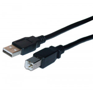 USB Data Jasper Cable A Male to B Male 3m Black 5210029017155