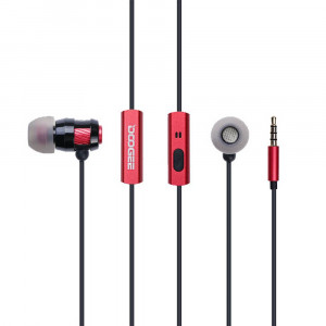 Hands Free in-Earbud Stereo 3.5 mm Doogee Vienna Κόκκινο - Μαύρο 5210029033896