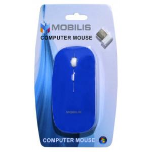 Mobilis MM-131 Wireless Mouse 4 Button 1600 DPI Blue (112*57*35mm) 5210029034688