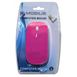 Mobilis MM-131 Wireless Mouse 4 Button 1600 DPI Pink (112*57*35mm) 5210029034695