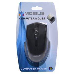 Mobilis MM-126 Wireless Mouse 6 Button 1600 DPI Black (108*70*38mm) 5210029034701
